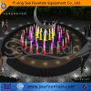 Fontaine sèche nette inoxidable décorative d'étage d'éclairage LED