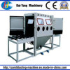 Doppelte Arbeits-Positions-manuelle Rollen-Förderanlagen-Sandstrahlen-Maschine