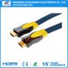 高速HDMIケーブルへの金によってめっきされるHDMIケーブル