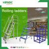 Lager-Supermarkt-bewegliche bewegliche Jobstepp-Walzen-Strichleiter