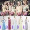 2015 nuevo Chiffon Bridesmaid Dress Long Uno Shoulder Evening Gowns Sexy Empire un Line Party Dress a-14