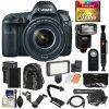 Markierung IV EOS-5D 4k Wi-FI Digital SLR Kamera u. E-F24-105mm F/4L ist II Usm das Objektiv mit Karte 128GB + Batterie u. Aufladeeinheit + Rucksack + Blitz + LED-Licht + Mikrofon