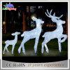 Rena decorativa iluminada atrativa ao ar livre do diodo emissor de luz do Natal acrílico