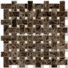 Mosaico de piedra oscuro de Crema Marfil de la mezcla de Emperador (HSM129)