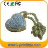美しい中心の形のダイヤモンドの宝石類USB駆動機構(ES512)