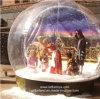 Globo di nevicata gonfiabile di vendita calda 2014, cupola della sfera di esposizione di natale, sfera gonfiabile della neve