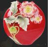 Arte moderna chinesa Red Vases com o Flowers para Wholesale (FS-105001)