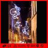 Im Freien Straßen-dekorative Pole eingehangene Leuchten des Weihnachtenled