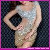 Robe nue de circuit de nuit de robe d'usager de nouvelle pleine du foret 2015 de diamant longue robe de luxe de douille (E-0045)