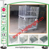 Jaula amontonable industrial del almacenaje del acoplamiento de alambre de acero