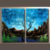 Schilderen Van uitstekende kwaliteit van het Landschap van het Landschap van 100% het Met de hand gemaakte Moderne Natuurlijke