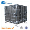 Lager Collapsible Steel Metal Wire Storage Cages mit Wheels