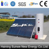 Chauffe-eau solaire de tube électronique pressurisé par fente de caloduc (SRCC, EN12975, certificat solaire de keymark)