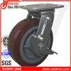 uräthan-Rad-Fußrolle der hohen Auswirkung-6X2 Hochleistungsmit Bremse
