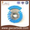 Твердое покрытие каннелюр HRC60 торцевой фрезы 4 карбида голубое Nano