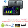 Novo 7.0inch Android 6.0 Quad-Core Car Tablet PCS com navegação GPS, 2CH Car DVR, câmera de visualização de estacionamento, transmissor de FM, Bluetooth, Dash Video Recorder Camera; WiFi