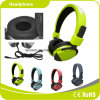 2017 luz - auriculares novos verdes da boa qualidade do fone de ouvido do projeto