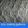 Корзины Gabion покрытия цинка для корзины реки Treatment/PVC Coated Gabion для остальной стены