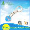 Trousseau de clés personnalisé en métal d'émail de forme ronde pour le souvenir