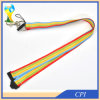 O arco-íris elástico da corda colore Lanayrd