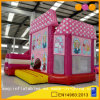 Combinado inflable de la casa rosada combinada de la familia real con la diapositiva para los cabritos (AQ01558)