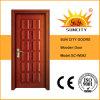 熱い販売の普及した内部のチークによって切り分けられる固体木のドア(SC-W092)