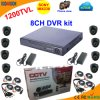 8 kanaal DVR Kit met Sony 1200tvl Dome Camera