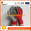 Красный нейлон с серым латексом Glove-Dnl751