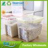Envase de almacenaje plástico del cereal de los PP de la cocina al por mayor con la tapa