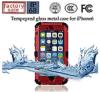 Tempepred impermeabile Glass Metal Caso per il iPhone 6