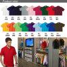 2015の新しい夏の卸売の人の方法不足分の袖の100%年の綿純粋なカラーTシャツ(SFG01)