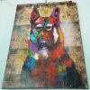 Картина маслом холстины собаки домашних товаров красивейшая животная цветастая (LH-149000)