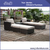 Mobília de vime do jardim do Rattan do PE da resina do pátio ao ar livre, sala de estar modular ajustada (J383-A)