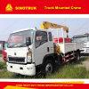 4tクレーントラックSino HOWO 4X2のトラックによって取付けられるクレーン