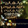 Luz da decoração do motivo da rua da estrela do diodo emissor de luz do Natal