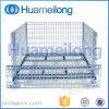Cage bloquée pliable empilable de mémoire d'entrepôt