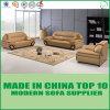 Sofa sectionnel en cuir réel de bureau à niveau élevé moderne