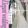 Attraktiver hoher Ansatz-islamischer Hochzeits-Kleid-Angebot-Schleier (AR005)