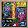 Het abstracte Eigentijdse Moderne Olieverfschilderij van het Pop-art (klsjpa-0003)
