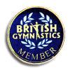 moneta britannica blu del ricordo del membro di ginnastica placcata oro 24k per i regali