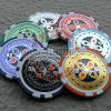 Composit Poker Chips- 2 Tone with Laser Sticker (PC309)