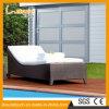 浜のデッキチェアの屋外の庭のテラスのプールの椅子の家具の藤の柳細工のあるベッドの寝台兼用の長椅子Sunbed