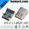 고품질 3.1 길 유형 SMT+DIP USB 소켓 C 유형 USB 연결관