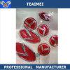 эмблема логоса автомобиля полного комплекта 7PCS красная изготовленный на заказ с прилипателем