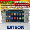 Carro DVD do Android 5.1 de Witson para Ford (2008-2011) /Galaxy S-Máximo (2011-2012) com a pia batismal DVR do Internet da ROM WiFi 3G de Rockchip 3188 1080P 16g do núcleo do quadrilátero (W2-F9457FS)