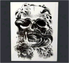 El fantasma de Víspera de Todos los Santos del cráneo modela la etiqueta engomada temporal impermeable del tatuaje