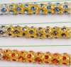 Rhinestone de cristal Hand-Stitched gama alta do colar da roupa da corrente do diamante para acessórios do vestido de casamento (corrente do ouro de TCG-5mm)