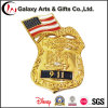 Emblema da lembrança do chapeamento de ouro de New York City para para o emblema 911