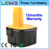 Black+Yellow 2.0ah NiMH Electric Tool Battery voor Dewalt DC9071