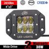 범퍼 홍조 마운트 LED 빛 (30W, 광속을 모는 3X3X3inch는, IP68는 방수 처리한다)